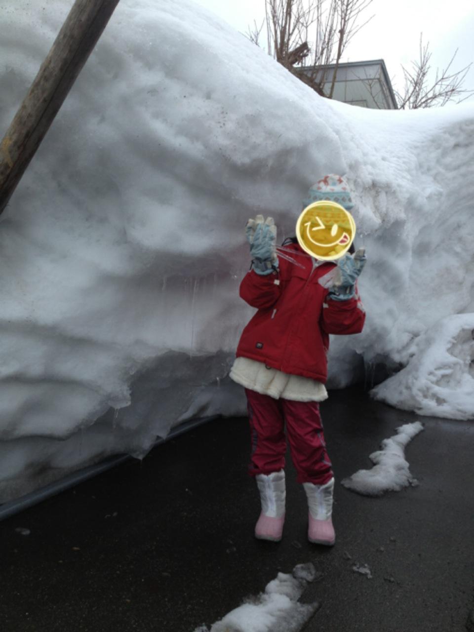 雪だ氷柱だ